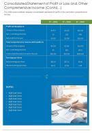 Consolidated Statements For Comprehensive Income Template 20 Report Infographic Ppt Pdf Document