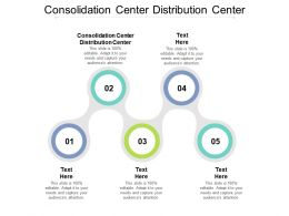 Consolidation Center Distribution Center Ppt Powerpoint Presentation Model Tips Cpb