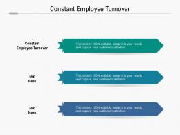 Constant Employee Turnover Ppt Powerpoint Presentation File Display Cpb