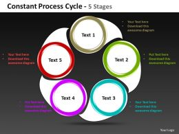 constant process cycle 5 stages powerpoint templates graphics slides 0712