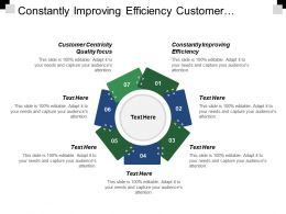 Constantly Improving Efficiency Customer Centricity Quality Focus Strategy Map