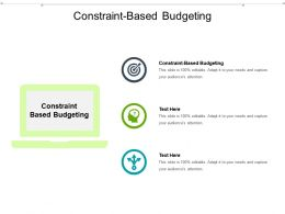 Constraint Based Budgeting Ppt Powerpoint Presentation Inspiration Templates Cpb
