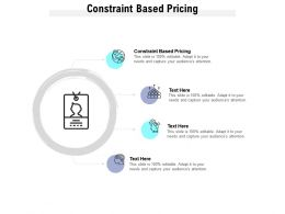 Constraint Based Pricing Ppt Powerpoint Presentation Professional Visual Aids Cpb