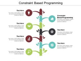 Constraint Based Programming Ppt Powerpoint Presentation Icon Smartart Cpb