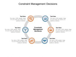 Constraint Management Decisions Ppt Powerpoint Presentation Example Cpb