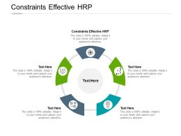 Constraints Effective HRP Ppt Powerpoint Presentation Show Example Cpb