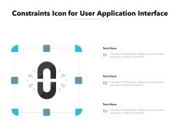 Constraints Icon For User Application Interface