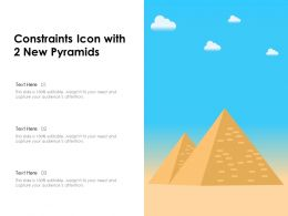 Constraints Icon With 2 New Pyramids