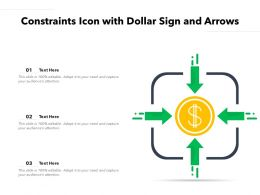 Constraints Icon With Dollar Sign And Arrows