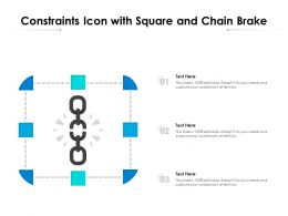 Constraints Icon With Square And Chain Brake