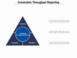 Constraints Throughput Reporting Ppt Powerpoint Presentation Model Slide Download Cpb
