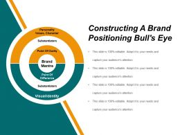 Constructing A Brand Positioning Bulls Eye Powerpoint Shapes