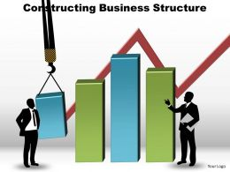 constructing business structure cranes lifting bar charts powerpoint diagram templates graphics 712