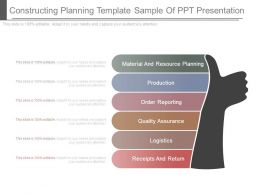 Constructing Planning Template Sample Of Ppt Presentation