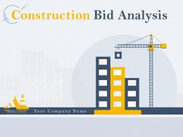 Construction Bid Analysis Powerpoint Presentation Slides