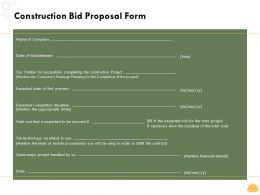 Construction Bid Proposal Form L1596 Ppt Powerpoint Presentation Model