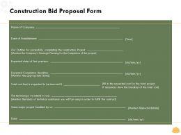 Construction Bid Proposal Form L1596 Ppt Powerpoint Presentation Model
