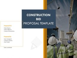 Construction Bid Proposal Template Powerpoint Presentation Slides