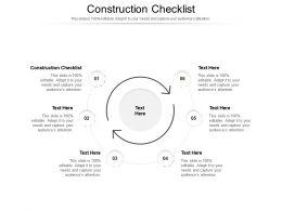 Construction Checklist Ppt Powerpoint Presentation Show Model Cpb