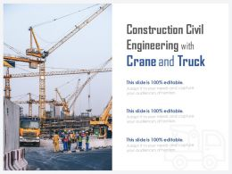 Construction Civil Engineering With Crane And Truck