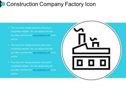 Construction Company Factory Icon