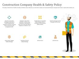 Construction Company Health And Safety Policy Special Ppt Powerpoint Presentation File Design Inspir
