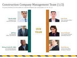Construction Company Management Team Chief M691 Ppt Powerpoint Presentation File Elements