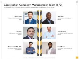 Construction Company Management Team M2564 Ppt Powerpoint Presentation Gallery Microsoft