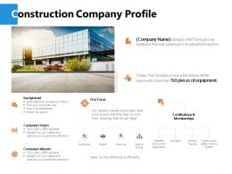 Construction Company Profile J231 Ppt Powerpoint Presentation Diagram