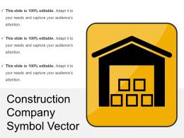 Construction Company Symbol Vector