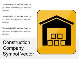 Construction Company Symbol Vector