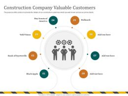 Construction Company Valuable Customers Hallmark Ppt Powerpoint Presentation File Gridlines