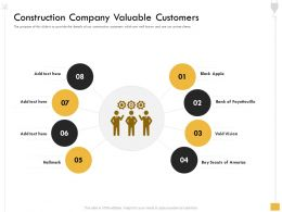 Construction Company Valuable Customers Scouts Ppt Powerpoint Presentation Icon Files