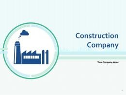 Construction Company Vector Illustration Factory Icon Silhouette Symbol Vector