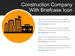 Construction Company With Briefcase Icon