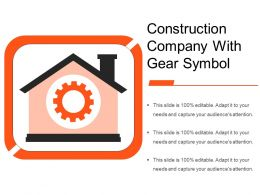 Construction Company With Gear Symbol