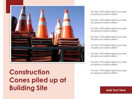Construction Cones Piled Up At Building Site