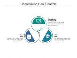Construction Cost Controls Ppt Powerpoint Presentation Professional Background Images Cpb