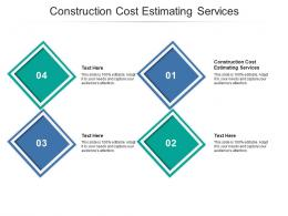 Construction Cost Estimating Services Ppt Powerpoint Presentation Layouts Good Cpb