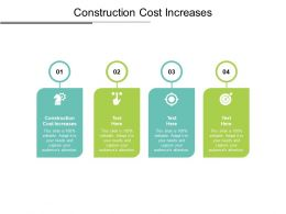 Construction Cost Increases Ppt Powerpoint Presentation Icon Show Cpb
