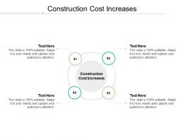 Construction Cost Increases Ppt Powerpoint Presentation Layouts Images Cpb