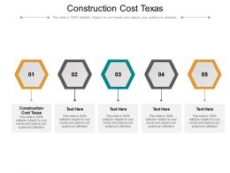 Construction Cost Texas Ppt Powerpoint Presentation Summary Graphics Cpb