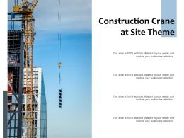 Construction Crane At Site Theme