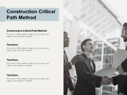 Construction Critical Path Method Ppt Powerpoint Presentation Icon Model Cpb