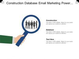Construction Database Email Marketing Power Information Network Social Marketing