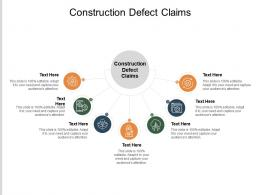 Construction Defect Claims Ppt Powerpoint Presentation Show Icons Cpb