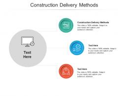 Construction Delivery Methods Ppt Powerpoint Presentationmodel Brochure Cpb