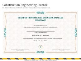 Construction Engineering License Privilidges Ppt Powerpoint Presentation Gallery Example
