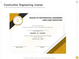 Construction Engineering License Wikihow Ppt Powerpoint Presentation File Visual Aids