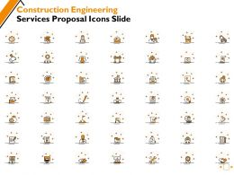 Construction Engineering Services Proposal Icons Slide Ppt Powerpoint Presentation Gallery Model